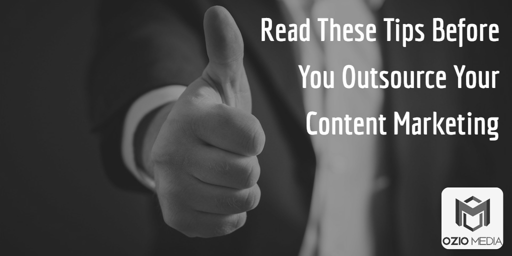 So you've decided to outsource your content marketing? Now you can kick back and relax while they handle everything for you, right? Not so fast.